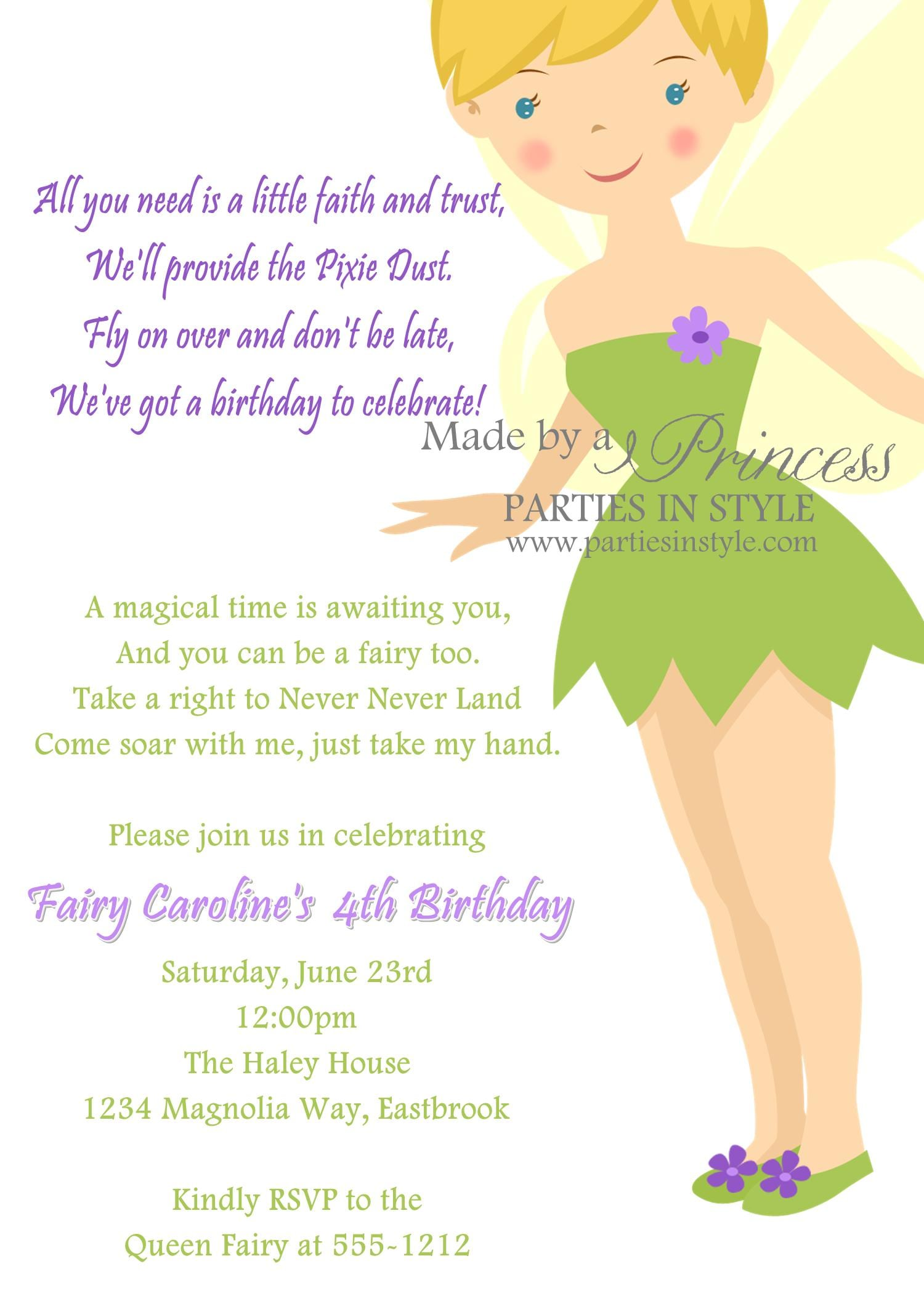 Tinkerbell Party Printables