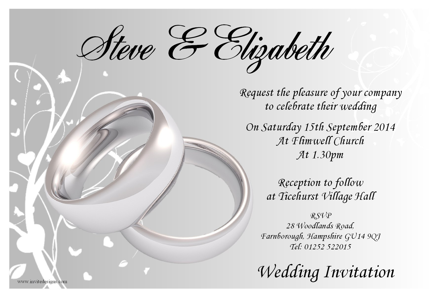 Civil Ceremony Invitation Wording