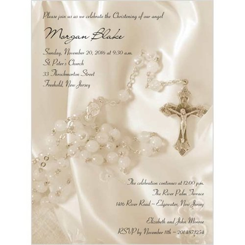 Invitation Card Design Baptism