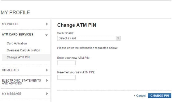 Citibank Online Personal Banking