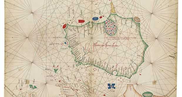 Oldest map of Ireland puts us on the edge of the world The map of Ireland in the 1468 Venetian Portolan atlas identifies 57  settlements  including Porto