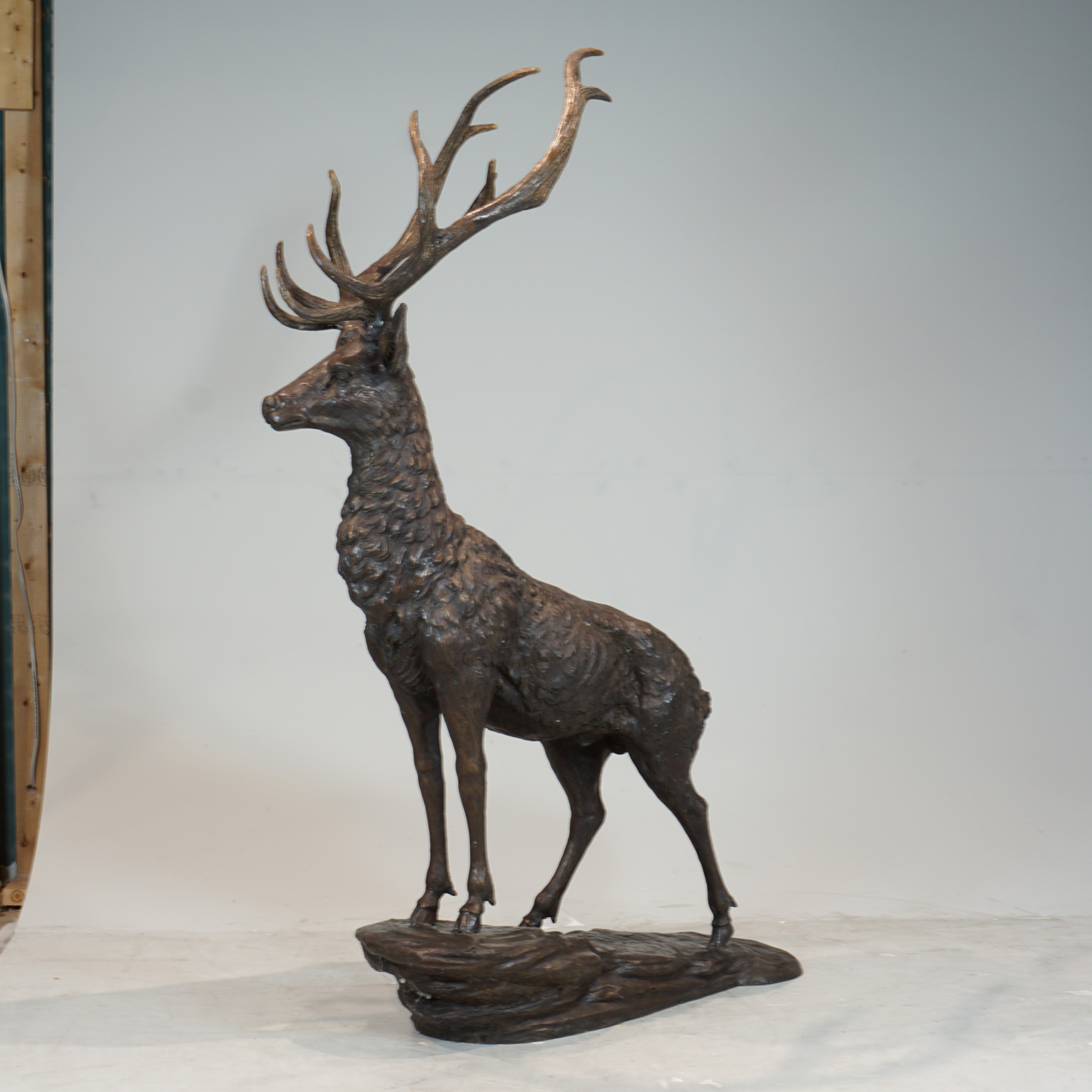 Single Male Deer Garden Statue With Antlers Irongate