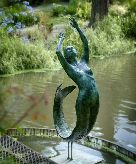 Large Mermaid Garden Pond Statue Irongate Garden Elements