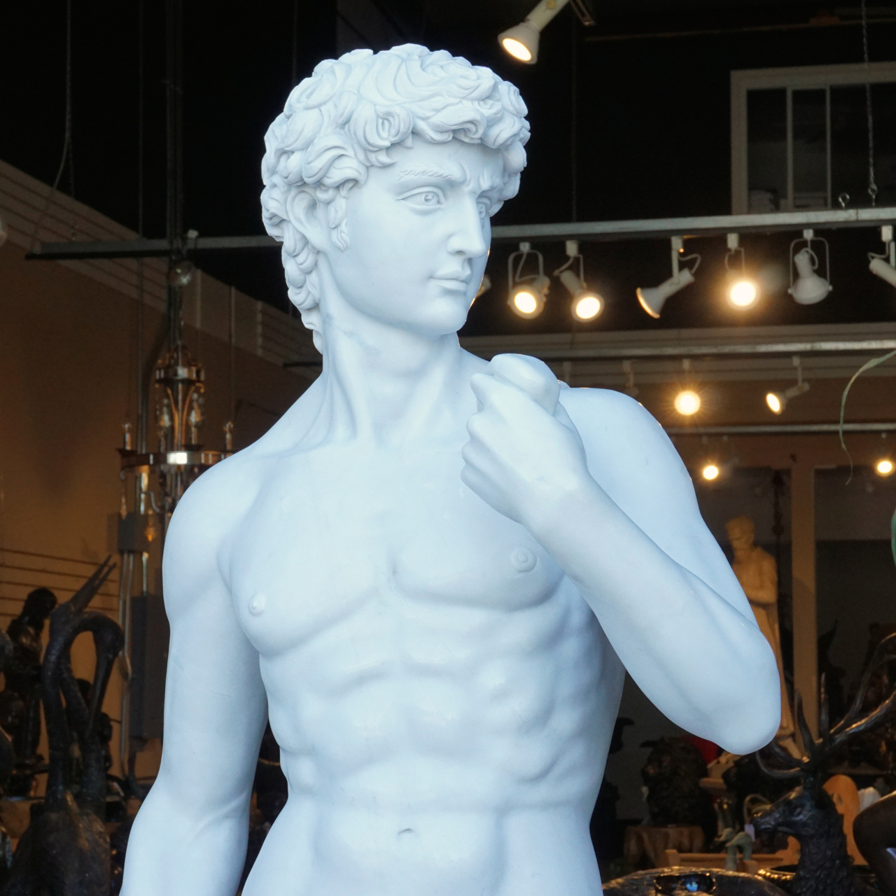 Statue Of David Solid Marble Life Size Irongate Garden