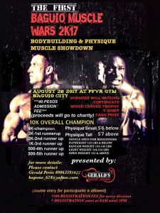 First Baguio Muscle Wars 2K17 @ PFVR Gym | Baguio | Cordillera Administrative Region | Philippines