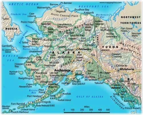 Lake Iliamna Alaska Map