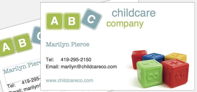 Business Card Childcare Company Theme Istudio