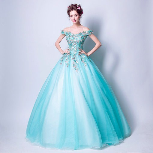 Aqua Blue Quinceanera Dresses Bridal Dress - Cheap Prom Dress ...