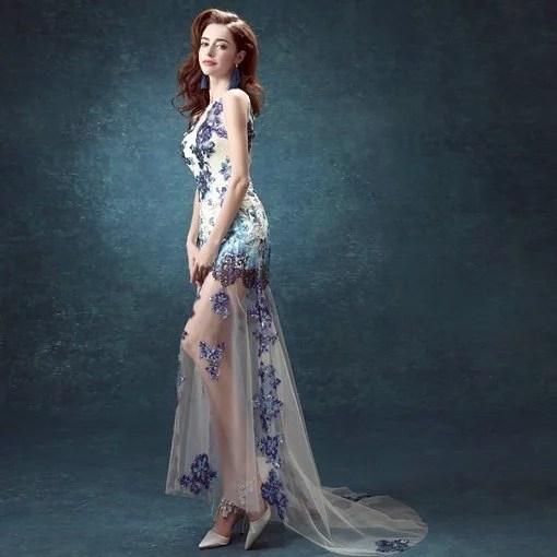 Sheer Lace Evening Gown online - Cheap Prom Dress,Evening Dress ...