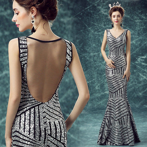 V Neck Evening Gown Plus Size Cheap Prom Dressevening Dress