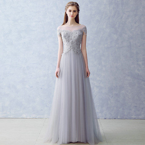 Affordable Grey Evening Dress Prom Dress Online Shopping