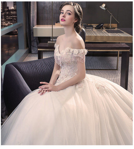 Off Shoulder Affordable Wedding Dress Lace Bridal Dress White ...