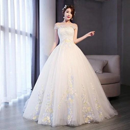 Wedding Dress Ball Gown Lace Off Shoulder Bridal Dress Wholesale