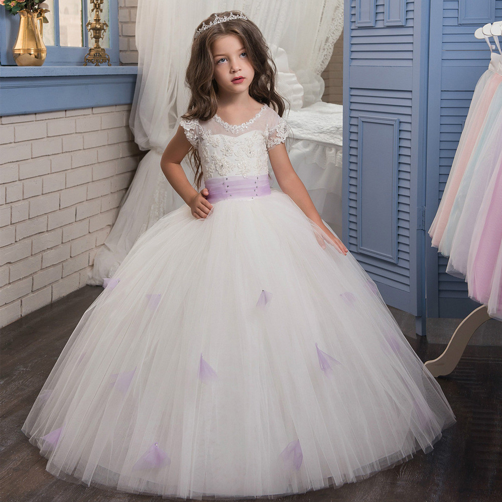 Childrens Wedding Dresses White Ball Gown Gowns For Girls