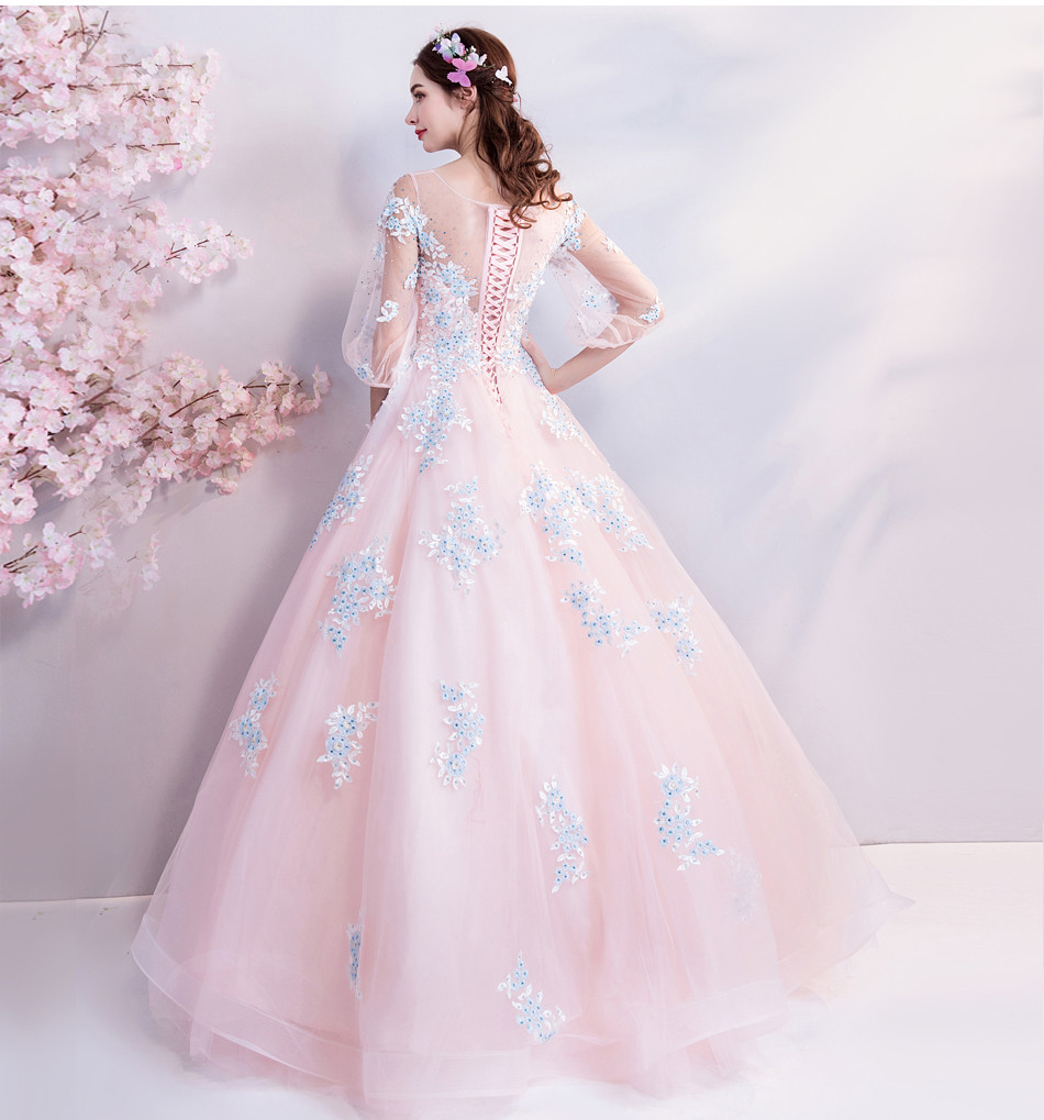 Quinceanera Dresses Pink Ball Gown Sweetheart Prom Dress