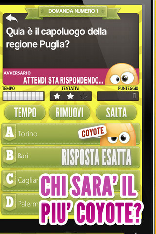 coyote Il Quiz del Coyote disponibile su App Store
