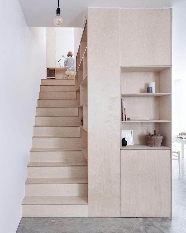 8 Compact Stairs For Cool Compact Spaces Italianbark   Stair Designs For Small Areas   Creative   Simple   Steep Stair   Trendy   Living Room
