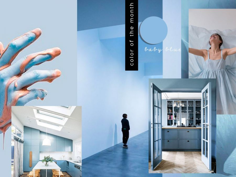 Interior Color Trends 2020 Pastel Baby Blue In Interiors