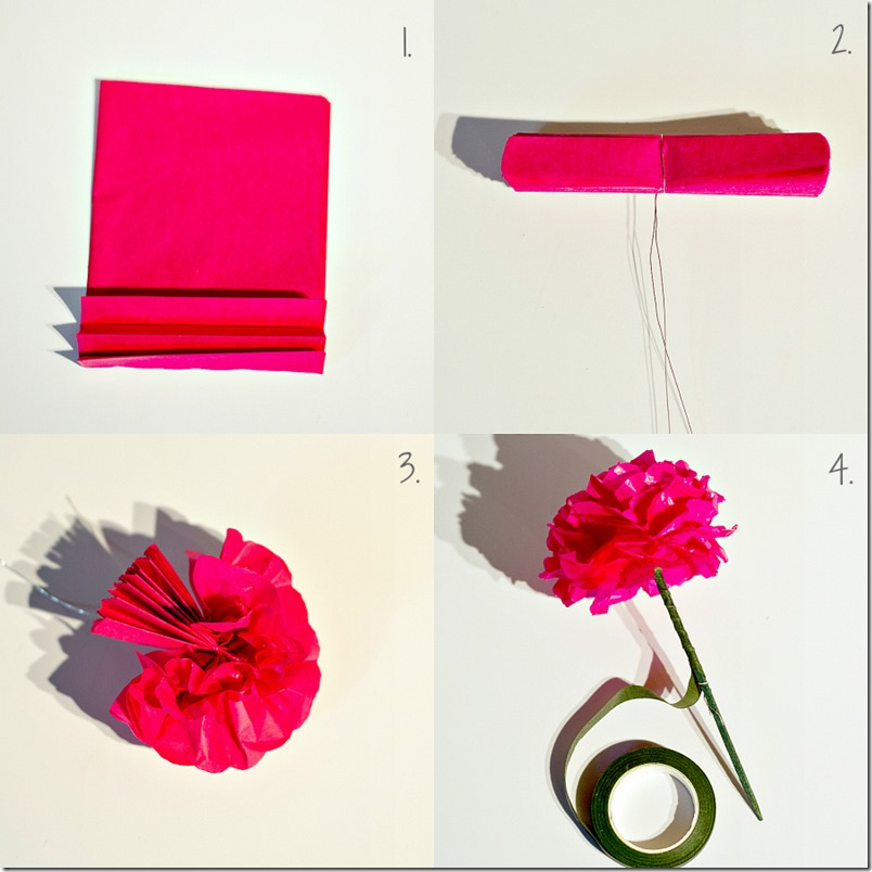 paper flowers for the botanically challenged   It All Started With Paint tissue paper flower how to tutorial