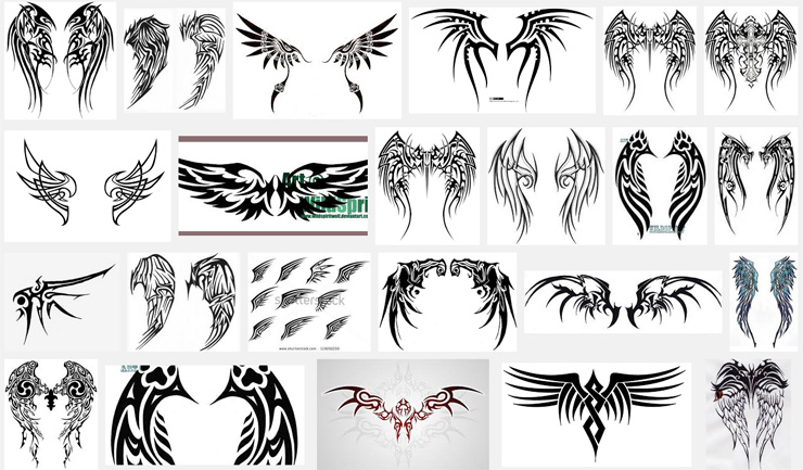 Nordic Valkyrie Wings Tattoo