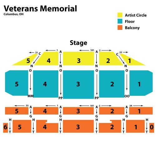 Veterans Memorial Auditorium Seating Columbus Oh