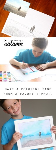 how to make personalized coloring pages for your kids   It s Always     This is completely awesome  you can turn any photo into a personalized coloring  page for