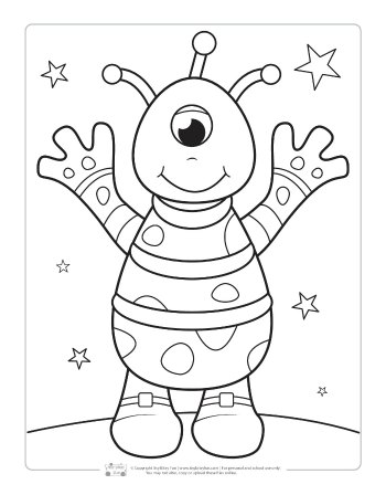 space coloring page # 8