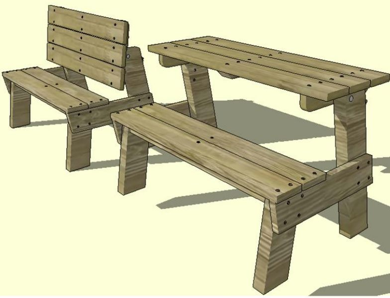 Bonie Woodworking Here Plans For Bench That Turns Into