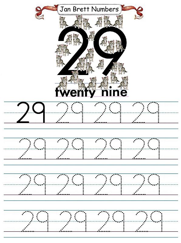 Jan Brett Number Tracers 29