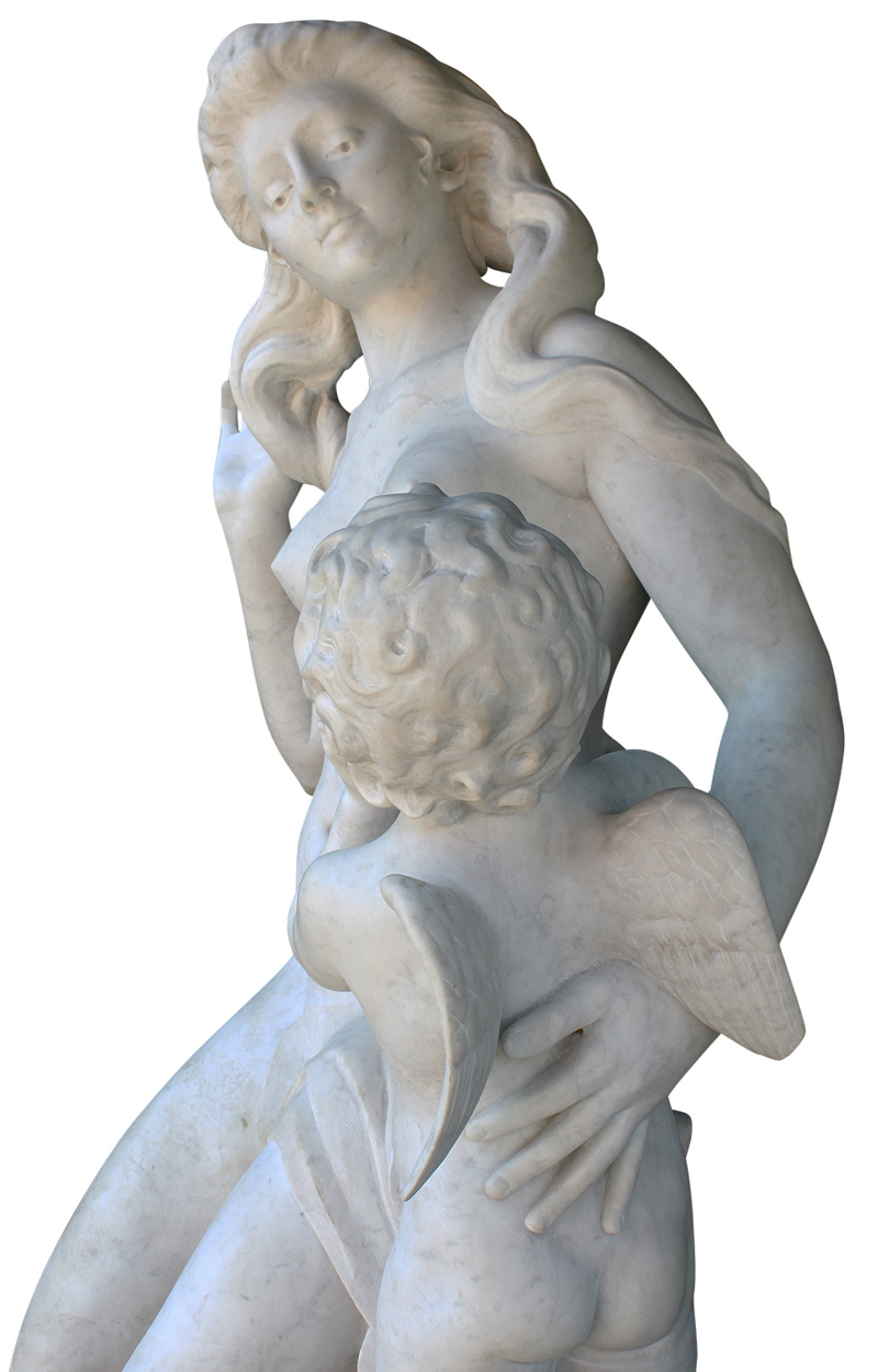 A Life Size French 19th 20th Century Carved Marble
