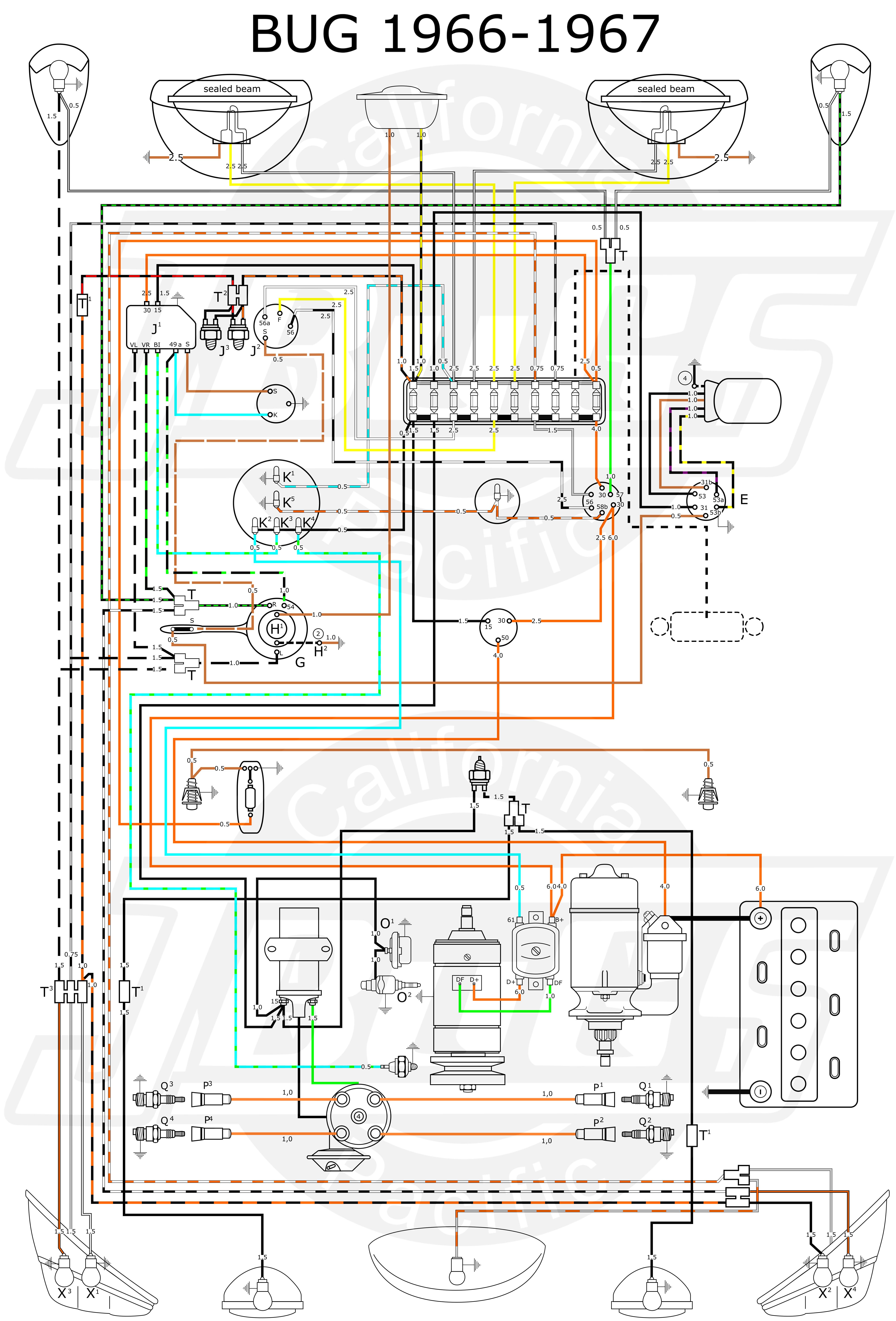 1970 Volkswagen Wiring Diagram 1971 Vw Engine Compartment 1600 Dp