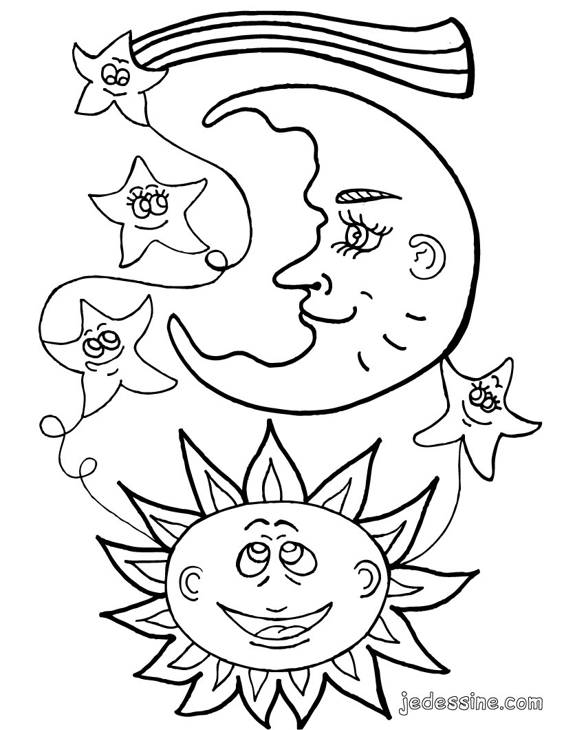 Earth Day And Night Coloring