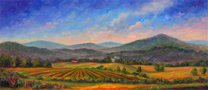Panoramic Mountain Oil Paintings And Prints Of Western