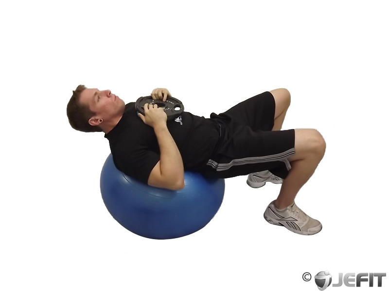 Exercise Ball Weighted Sit Up Exercise Database Jefit