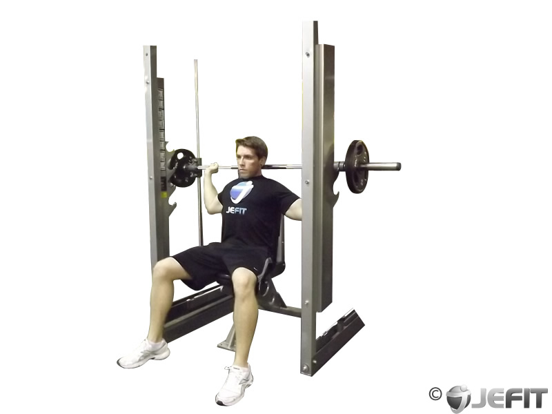 Smith Machine Shoulder Press Behind The Neck Exercise