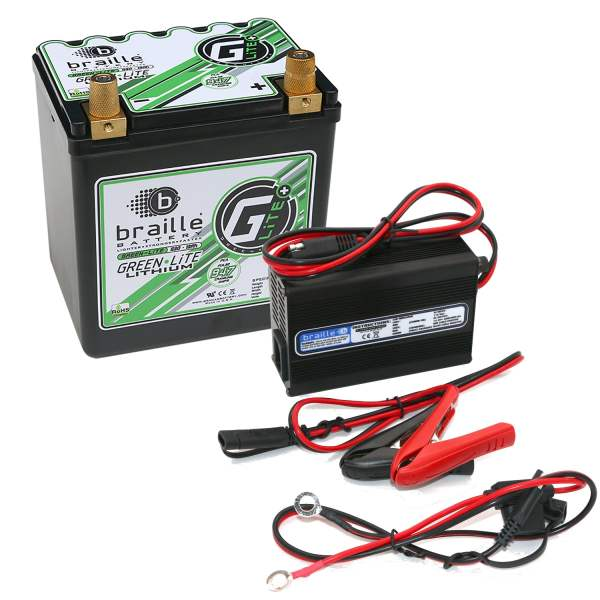 Braille Battery G30C Green Lite Lithium Ion 12 Volt Automotive     Green Lite Lithium Ion 12 Volt Automotive Battery and Charger Combo