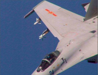 Ini Foto-Foto J-11B China Saat Mencegat P-8 Poseidon US Navy