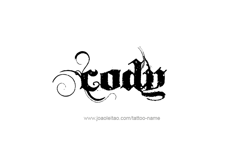 Cody Name Tattoo Designs