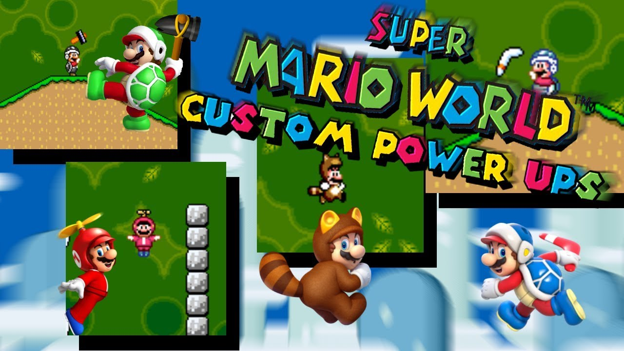Custom powerups on Super Mario World by LX5