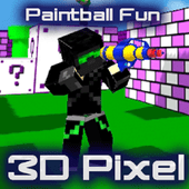 Paintball Fun: 3D pixel