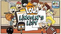 Living Loud: Lincoln's ListLiving Loud: Lincoln's List