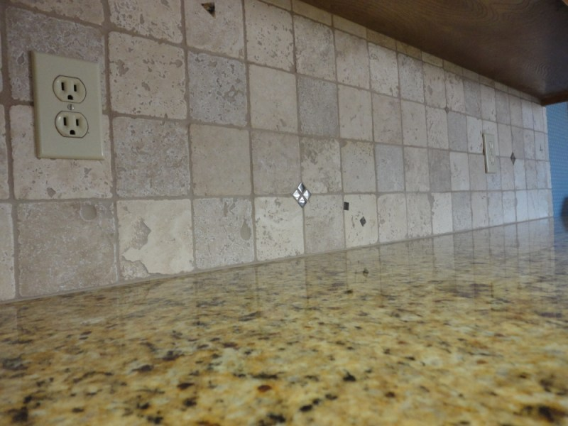 Grouting a Backsplash to Countertop Joint with Latex Caulking   Tile         caulk joint Another view of finished joint