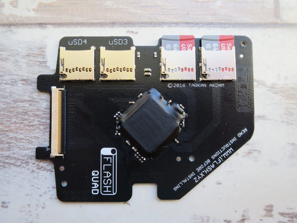 iFlash quad with SD cards inserted & ready to go