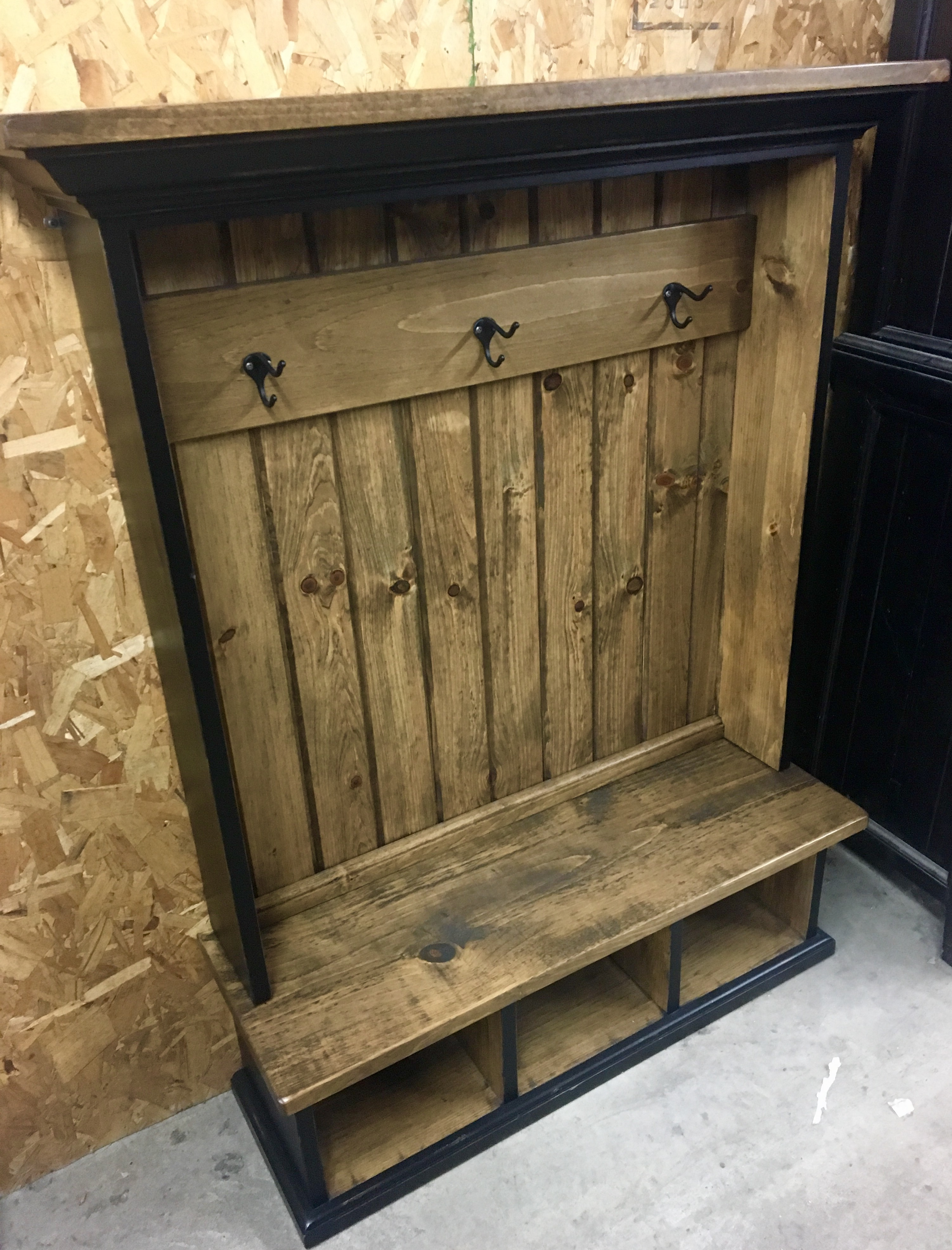 Children S Hall Tree Cubby Bench And Coat Rack Storage Unit