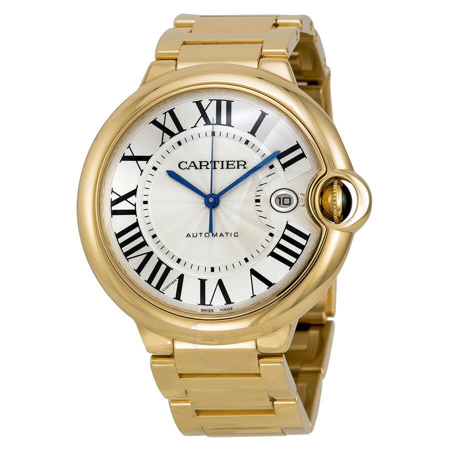 Cartier Ballon Bleu Large 18k Yellow Gold Men s Watch W69005Z2