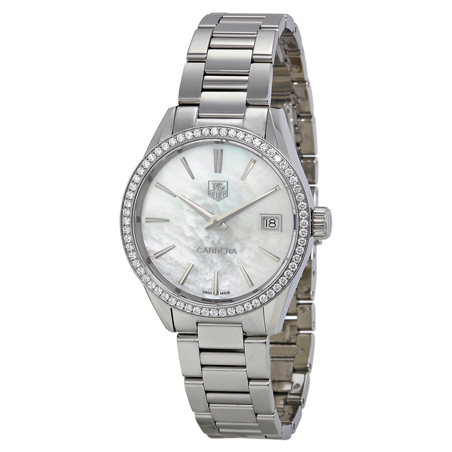 Tag Heuer Carrera Mother of Pearl Dial Diamond Stainless ...