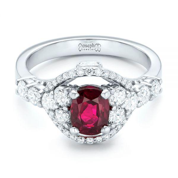 Custom Ruby And Diamond Engagement Ring 102900 Seattle Bellevue Joseph Jewelry