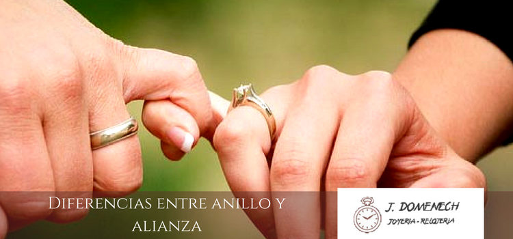 Distinguir un anillo de una alianza