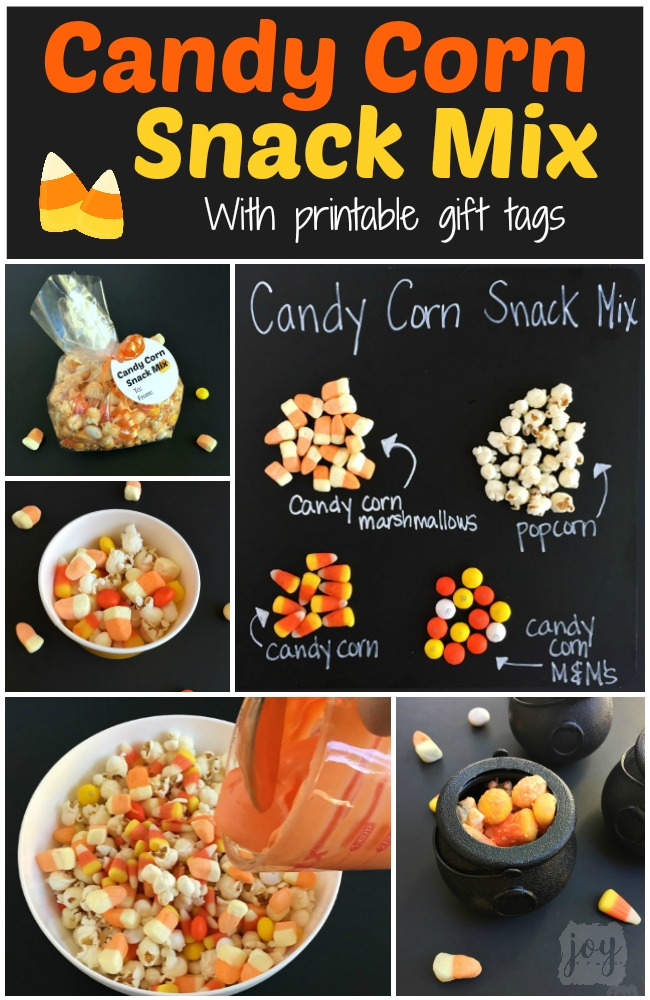 Candy Corn Snack Mix With Printable Gift Tags Joy In The