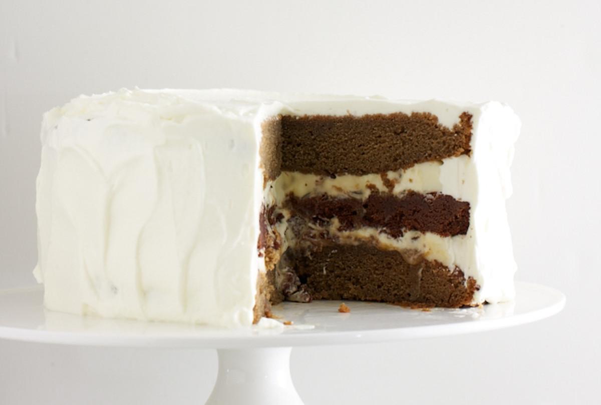 French Vanilla Mocha Latte Layer Cake Jamie Geller